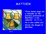 6 matthew