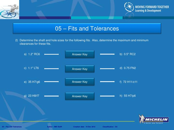 Ppt 05 fits and tolerances powerpoint presentation for 10h7 tolerance table