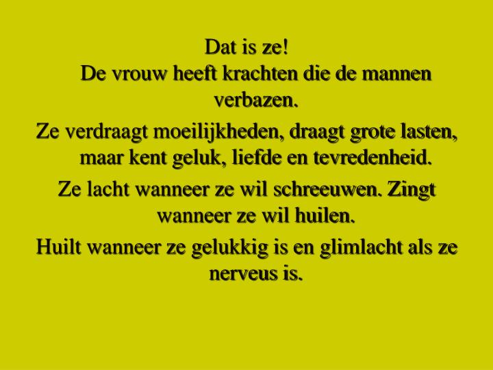 Dat is ze!