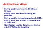 identification of village