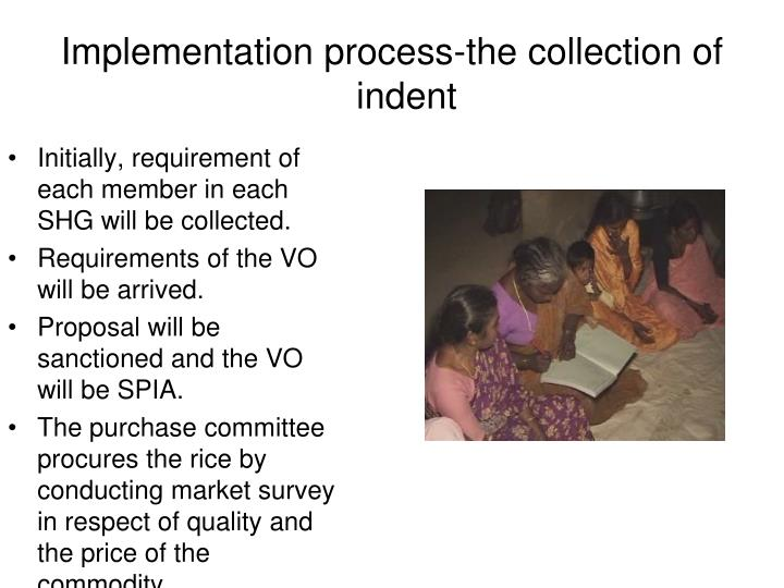 Initially, requirement of each member in each SHG will be collected.