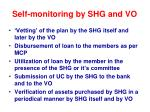 self monitoring by shg and vo