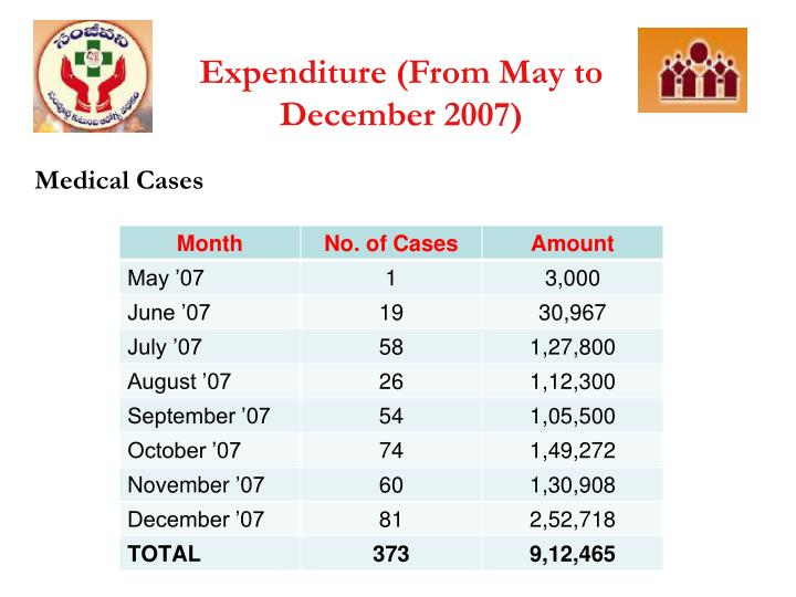 Expenditure (From May to December 2007)