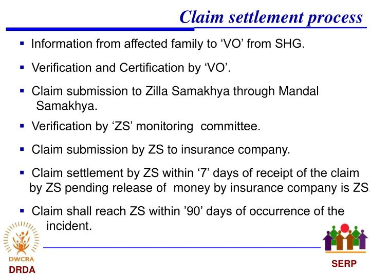 Claim settlement process