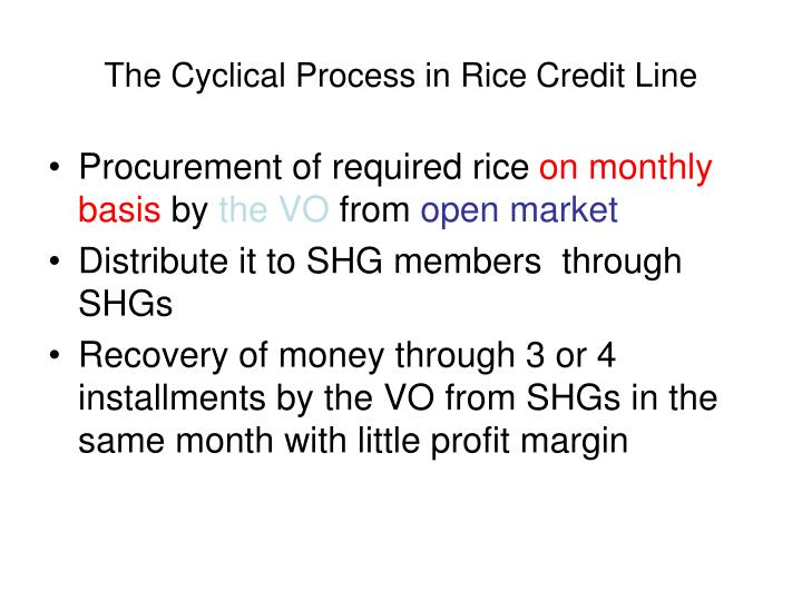The Cyclical Process in Rice Credit Line