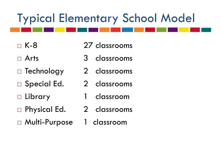 Typical Elementary School Model