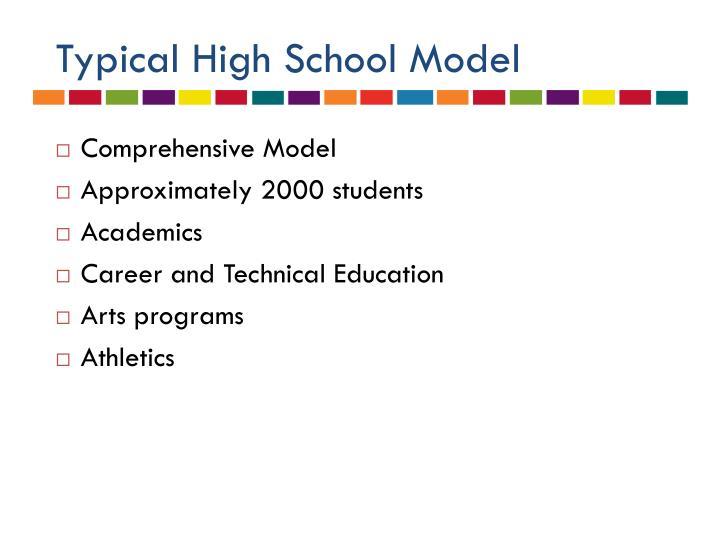 Typical High School Model