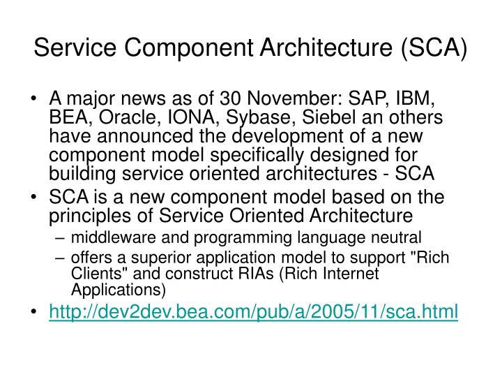 Service Component Architecture (SCA)