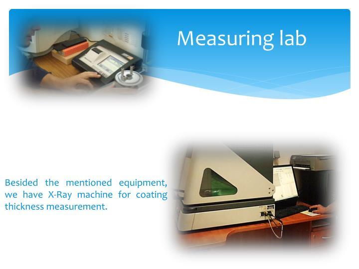 Measuring lab