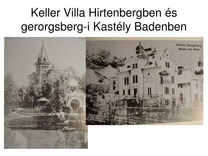 Keller Villa Hirtenbergben és