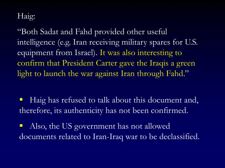 Haig: