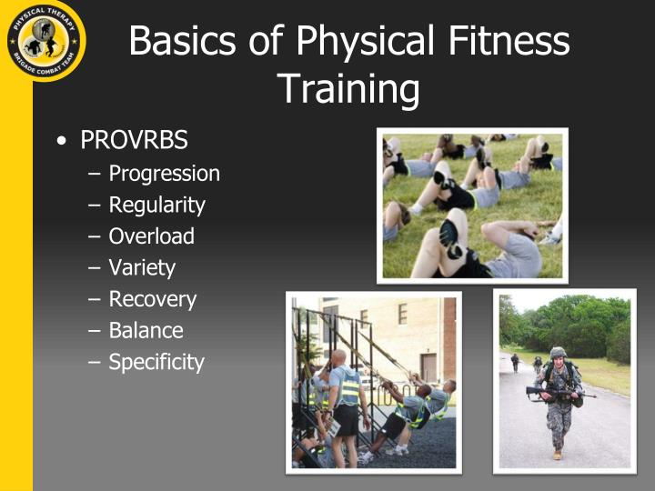 Basics of Physical Fitness Training