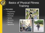 basics of physical fitness training