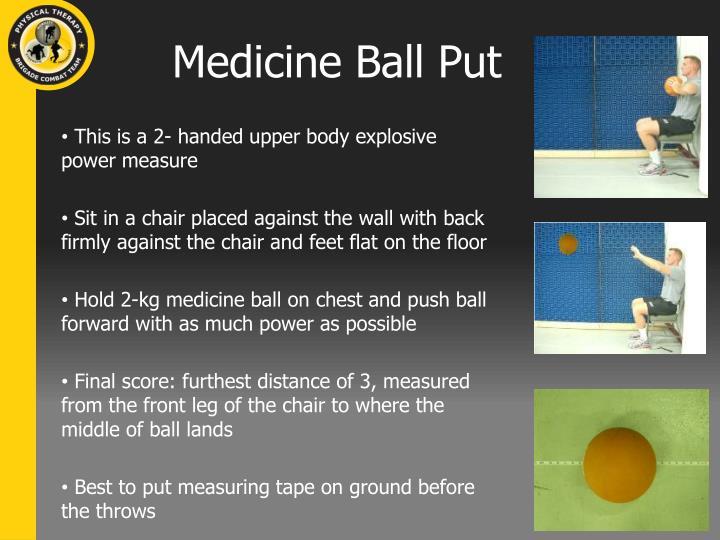 Medicine Ball Put