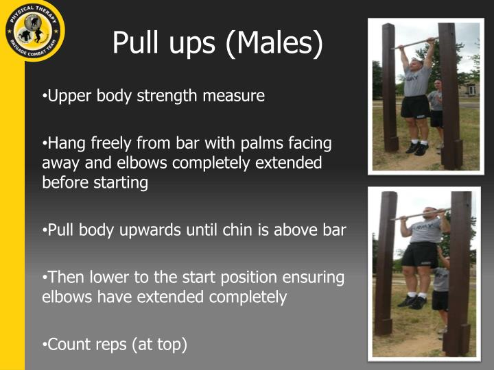 Pull ups (Males)