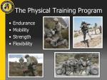 the physical training program