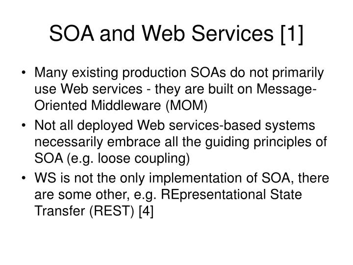 SOA and Web Services [1]