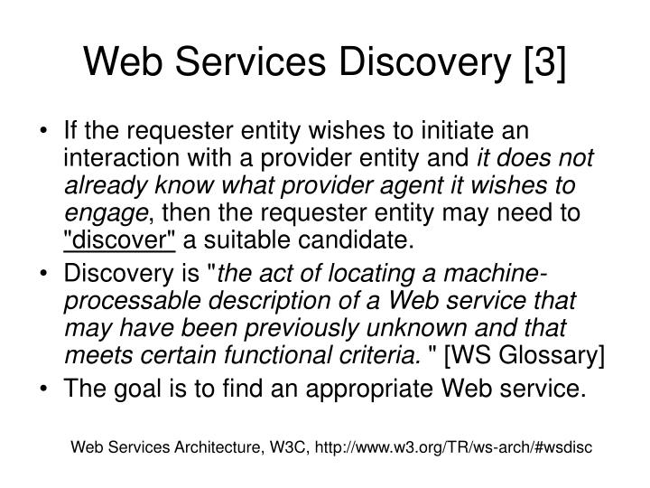 Web Services Discovery [3]
