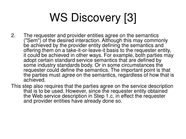 WS Discovery [3]