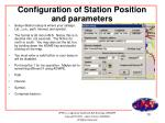 configuration of station position and parameters
