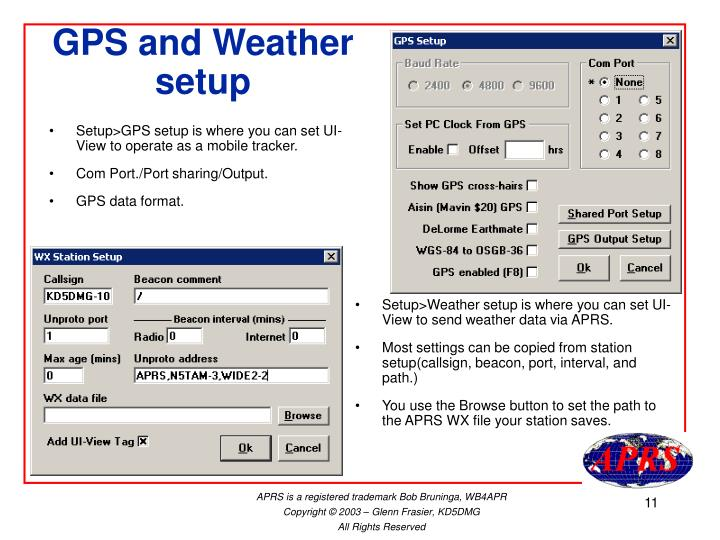 GPS and Weather setup