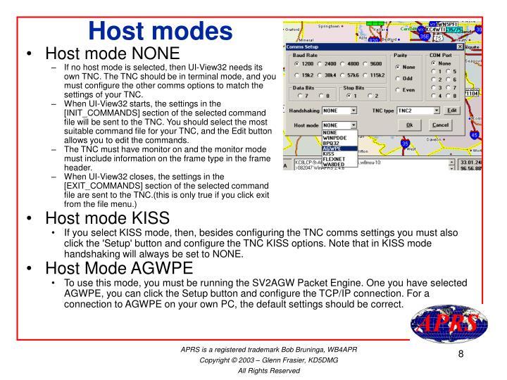 Host modes