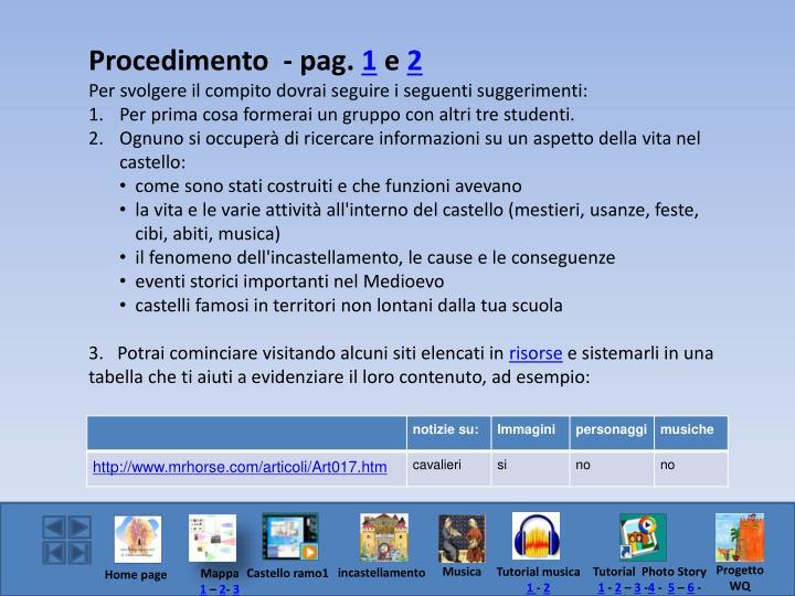 Procedimento  - pag.