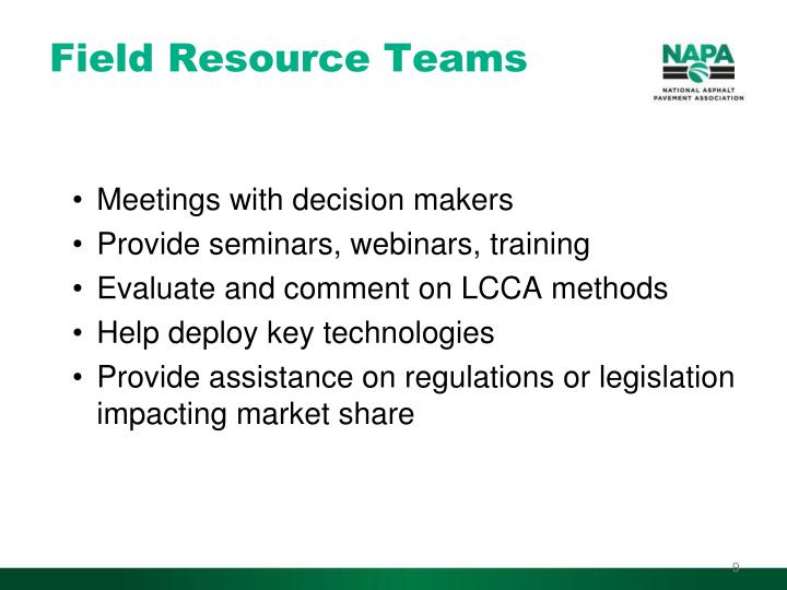 Field Resource Teams