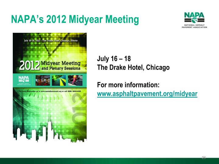 NAPA's 2012 Midyear Meeting