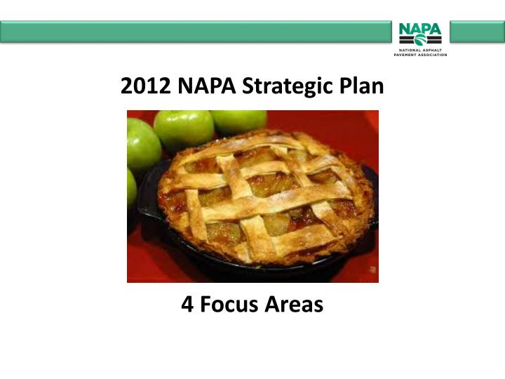 2012 NAPA Strategic Plan