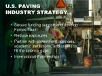 u s paving industry strategy