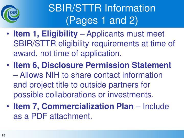 SBIR/STTR Information
