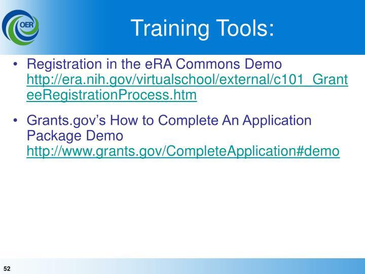 Training Tools: