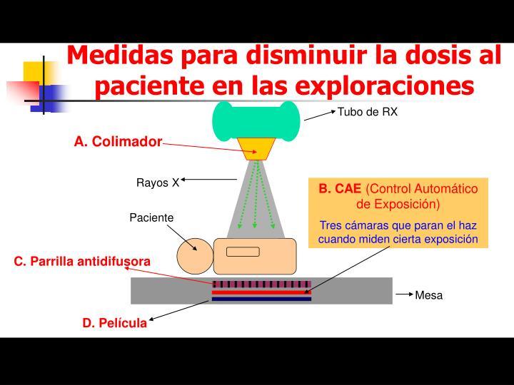 Medidas para disminuir la dosis al paciente en las exploraciones