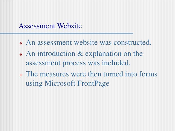 Assessment Website