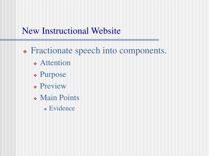 New Instructional Website