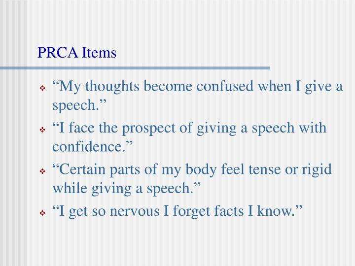 Prca items