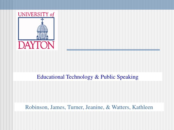 Educational Technology & Public Speaking