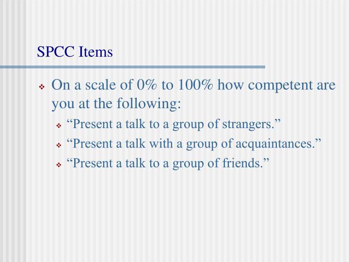 SPCC Items