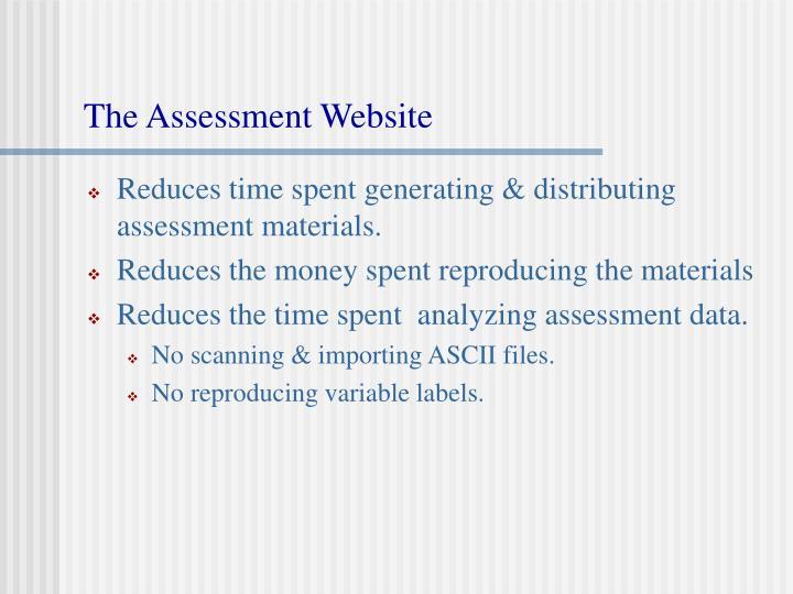The Assessment Website