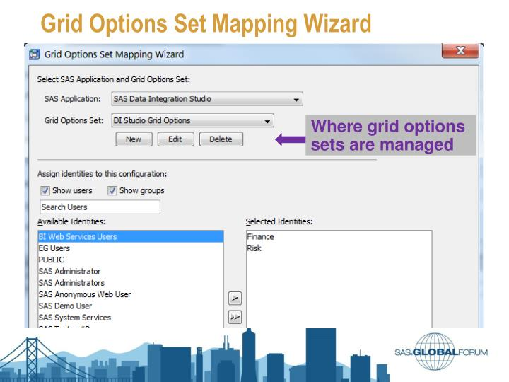 Grid Options Set Mapping Wizard