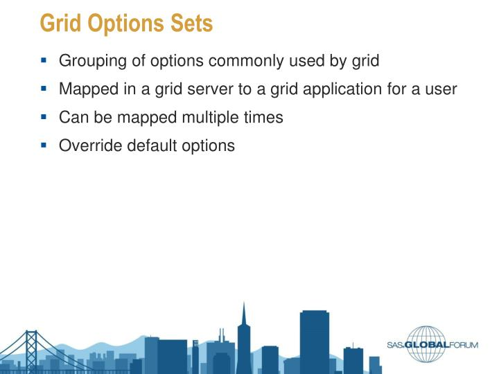 Grid Options Sets