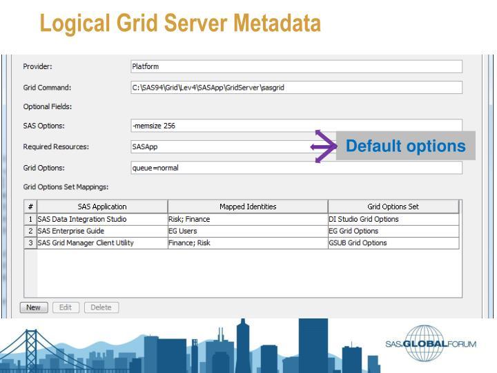 Logical Grid Server Metadata