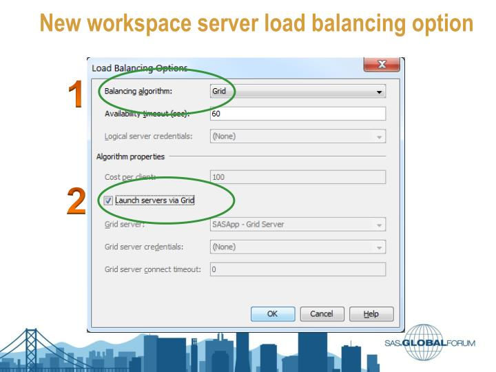 New workspace server load balancing option
