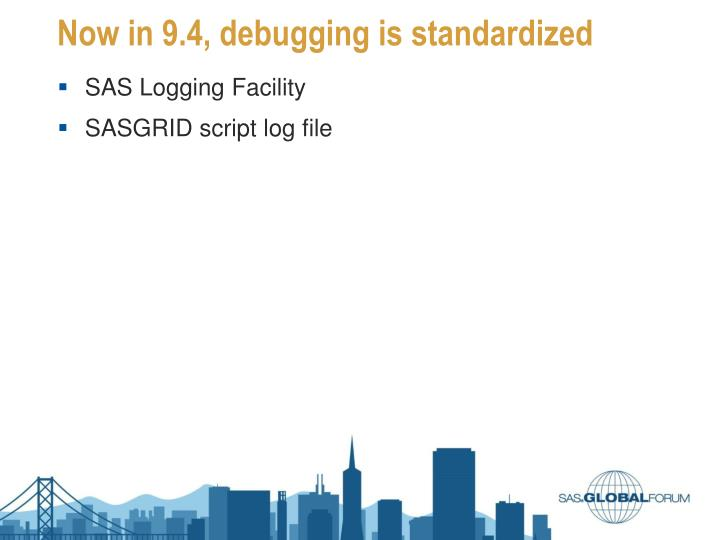 Now in 9.4, debugging is standardized