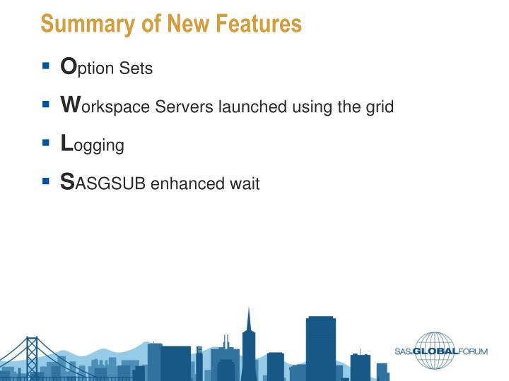 Summary of New Features