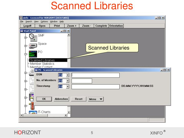 Scanned Libraries