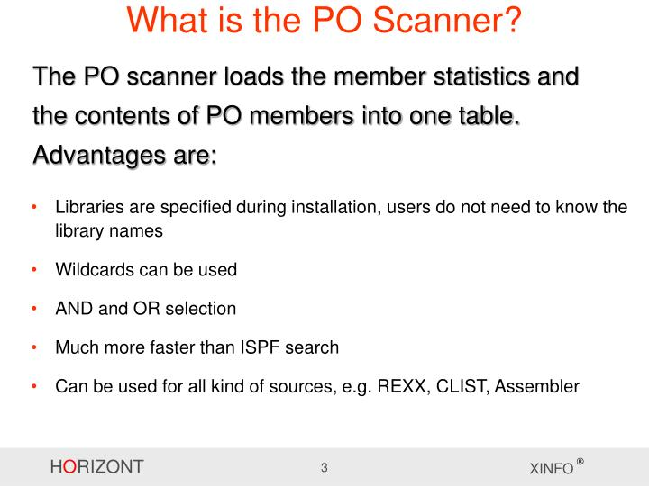 What is the po scanner