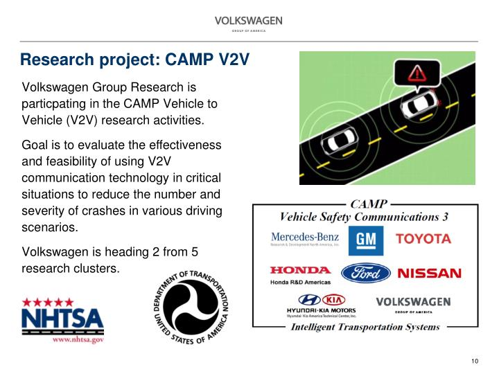 Research project: CAMP V2V