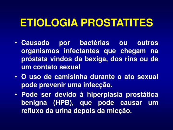 ETIOLOGIA PROSTATITES
